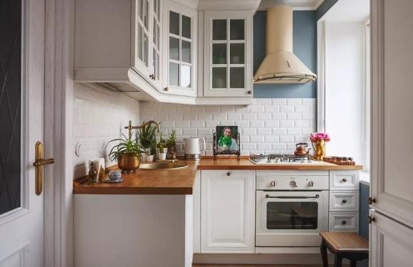 Кухня в стиле прованс в хрущевке