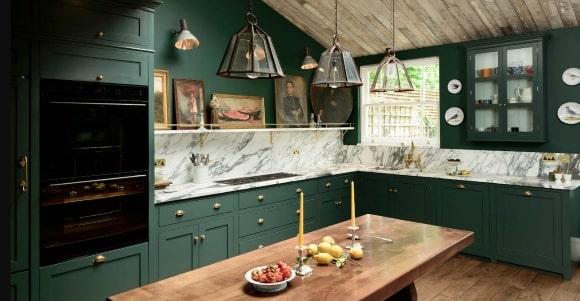 Кухня в стиле прованс зеленого оттенка