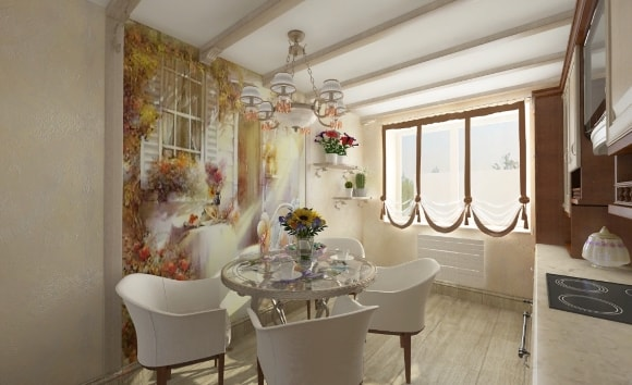 Кухонная фреска в стиле прованс