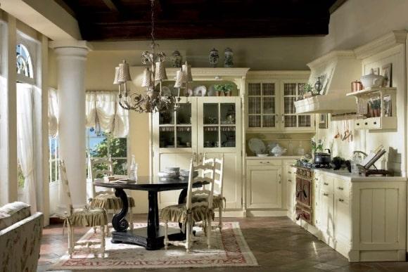 Кухонная люстра в стиле прованс