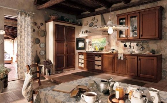 Кухонная мебель из МДФ в стиле прованс