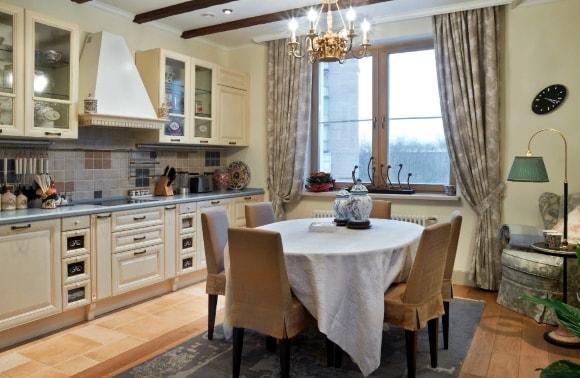 Кухонная мебель в стиле прованс в квартире