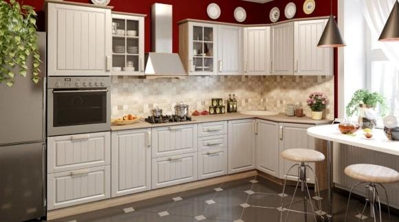 Кухонная угловая мебель в стиле прованс