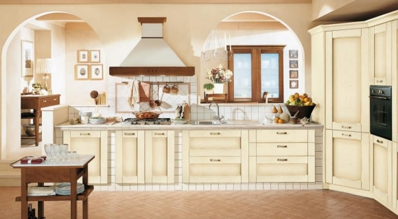 Кухонная вытяжка в стиле прованс