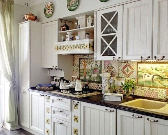 Кухонное панно в стиле прованс