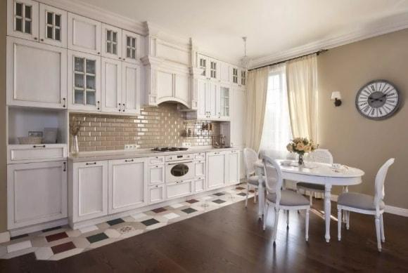 Кухонные часы в стиле прованс
