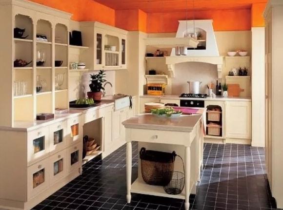 Кухонные полки в стиле прованс