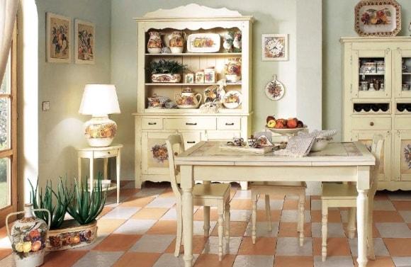 Кухонный буфет в стиле прованс