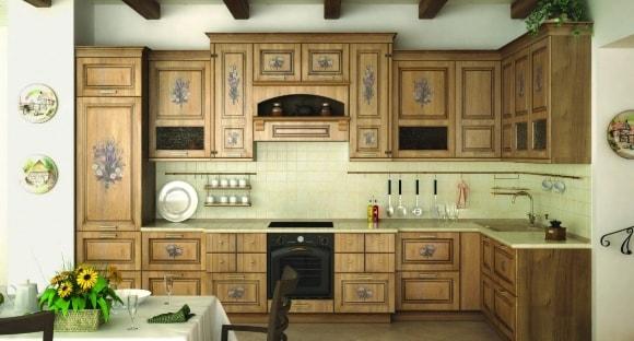 Кухонный декупаж в стиле прованс