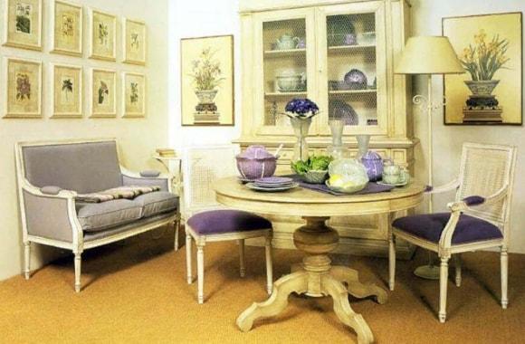 Кухонный диван в стиле прованс