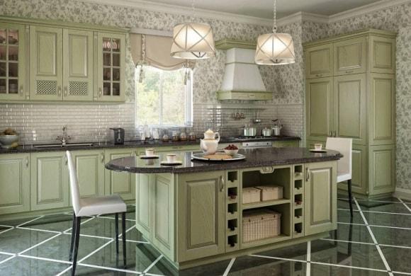 Кухонный островок в стиле прованс