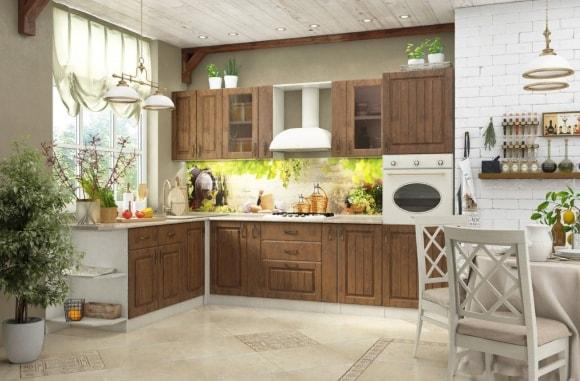 Кухонный скинали в стиле прованс