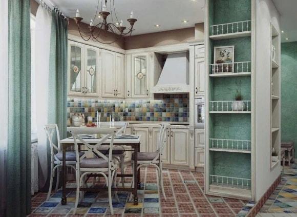 Квартирная кухня в стиле прованс