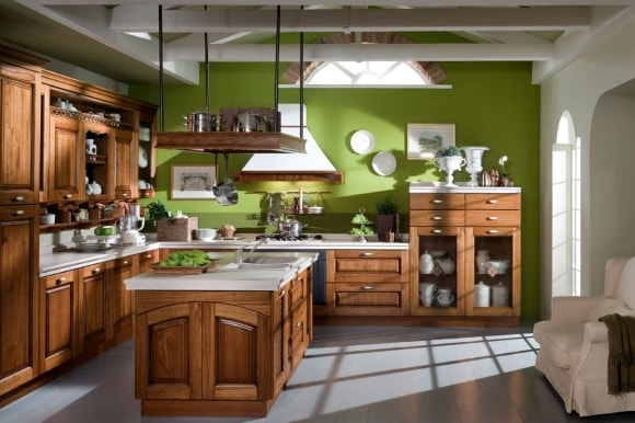 Мебель из МДФ в стиле прованс на кухне
