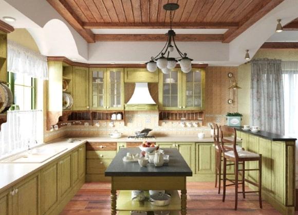 Светильники в стиле прованс на кухне