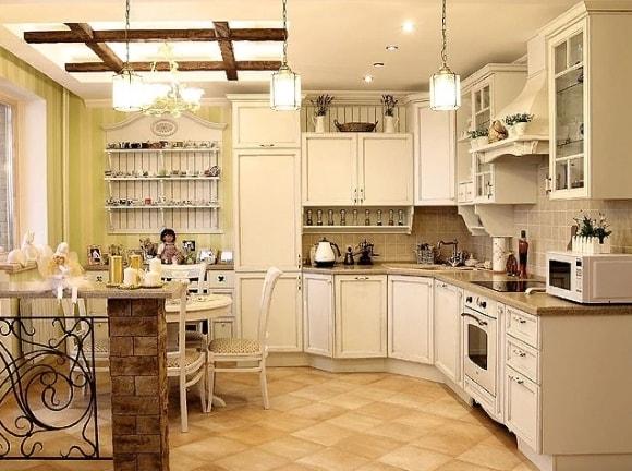 Вытяжка в стиле прованс на кухне