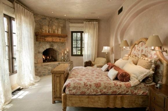 Деревенская прованская спальня