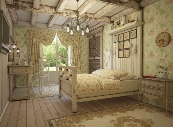 Деревенская спальня в стиле прованс