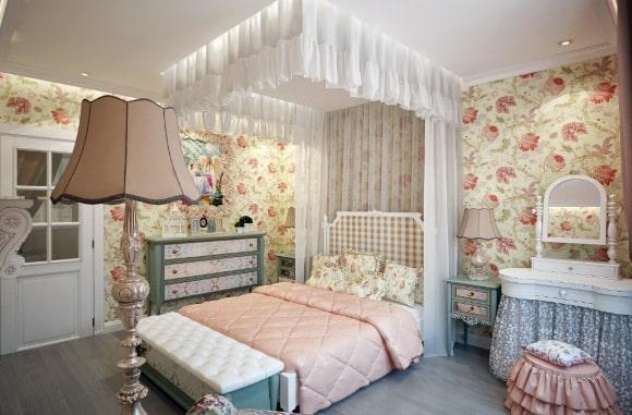 Дизайн детской прованской спальни