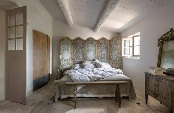 Дизайн мужской прованской спальни