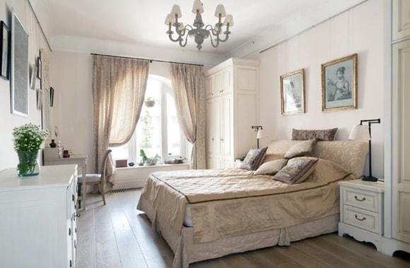 Дизайн прованской спальни 14 кв.м.
