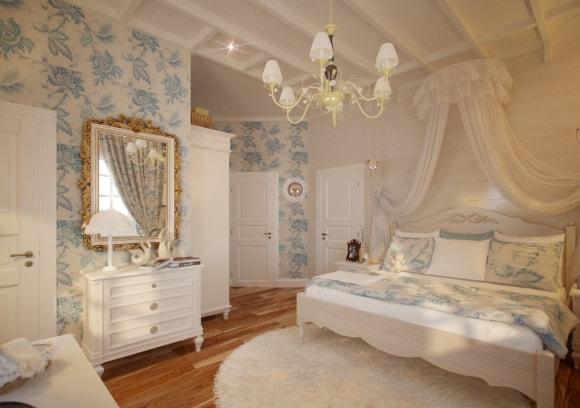 Дизайн прованской спальни 15 кв.м.