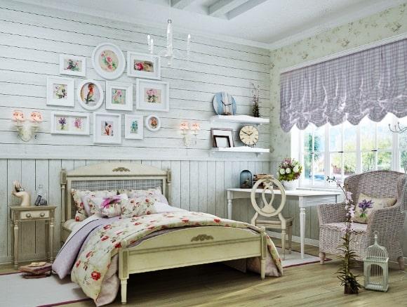 Дизайн прованской спальни для девочки-подростка