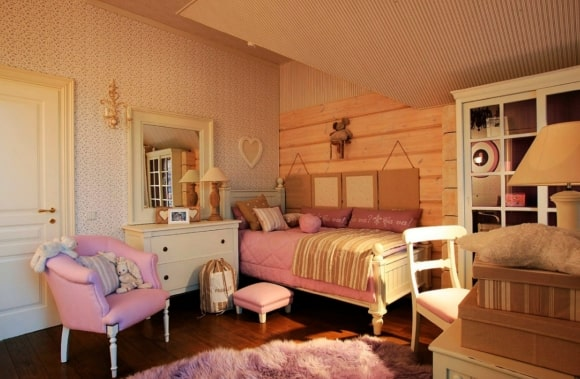 Дизайн прованской спальни для девочки