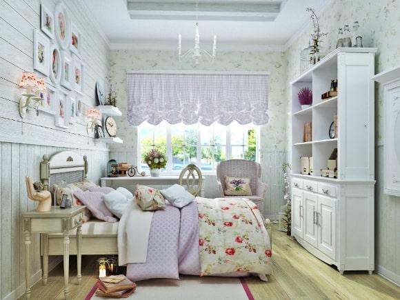 Дизайн прованской спальни для девушки