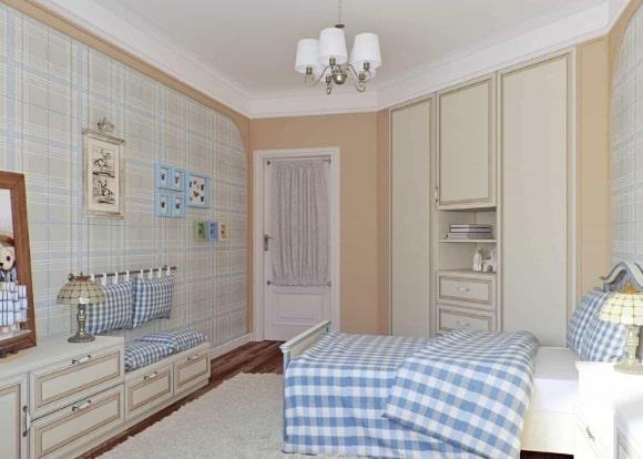 Дизайн прованской спальни для мальчика-подростка