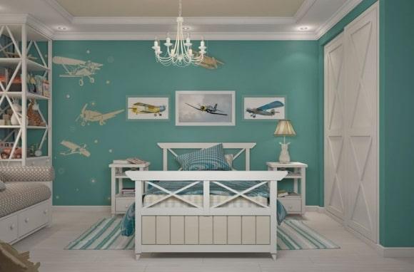 Дизайн прованской спальни для мальчика