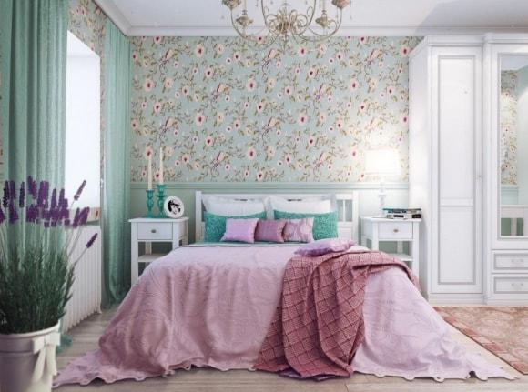 Дизайн прованской спальни маленького размера