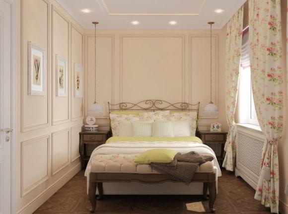 Дизайн прованской спальни небольшого размера