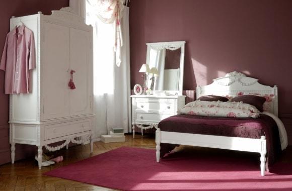 Дизайн прованской спальни со шкафом
