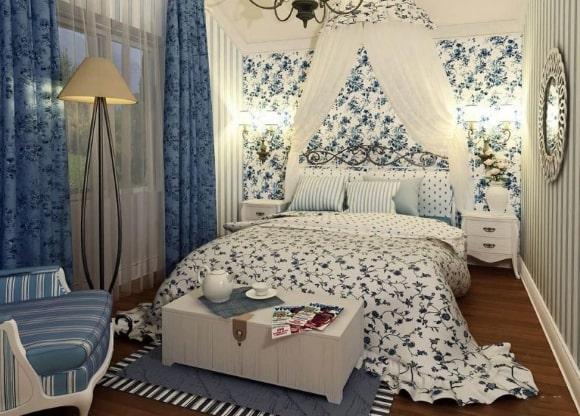 Дизайн современной прованской спальни