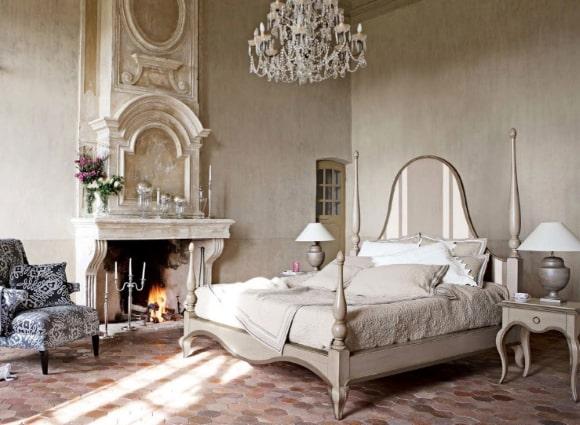 Дизайн винтажной прованской спальни