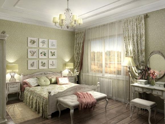 Дизайн женской прованской спальни