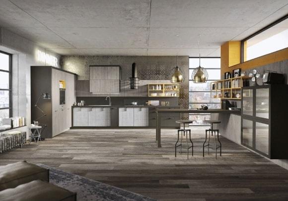 Дом с лофтовой кухней