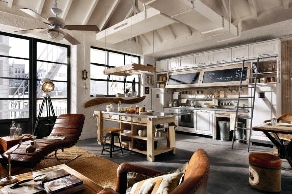 Кухня в стиле индастриал-лофт