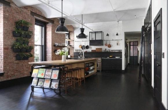 Лофт-кухня индустриальная