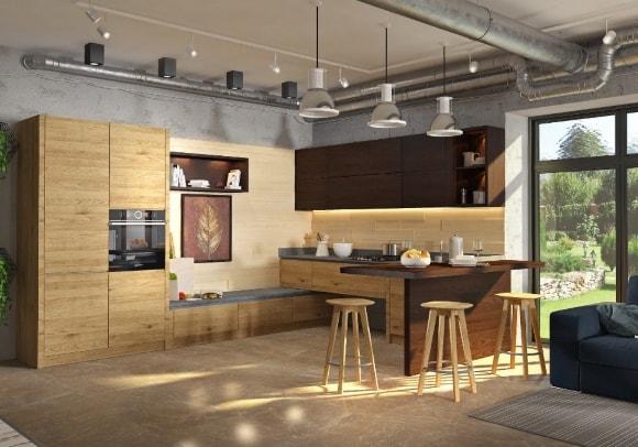 Лофт-кухня из экошпона