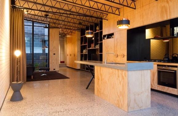 Лофт-кухня из фанеры