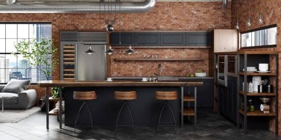 Лофт-кухня из металла