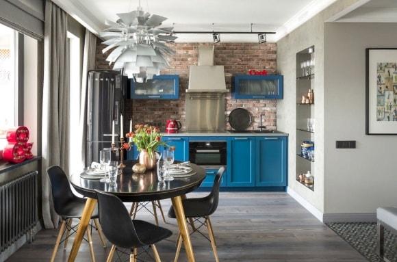 Лофт-кухня в интерьере квартиры