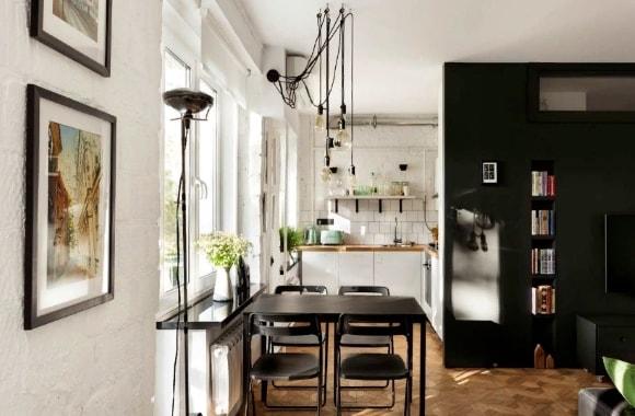 Лофт-кухня в интерьере сталинки