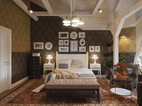 Мужская прованская спальня