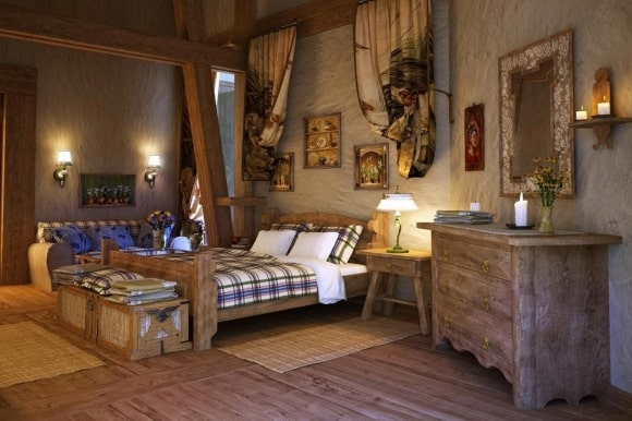 Мужская спальня в стиле прованс