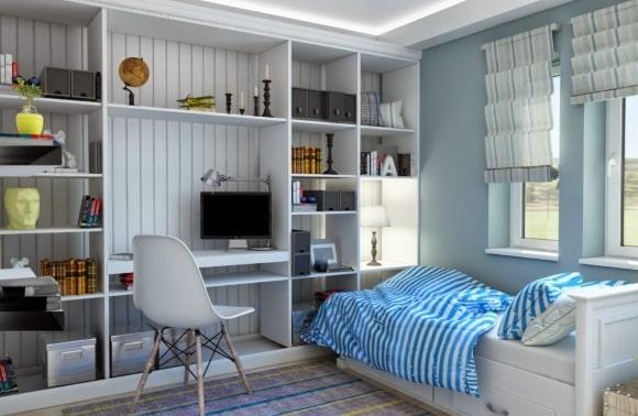 Прованская спальня для мальчика-подростка