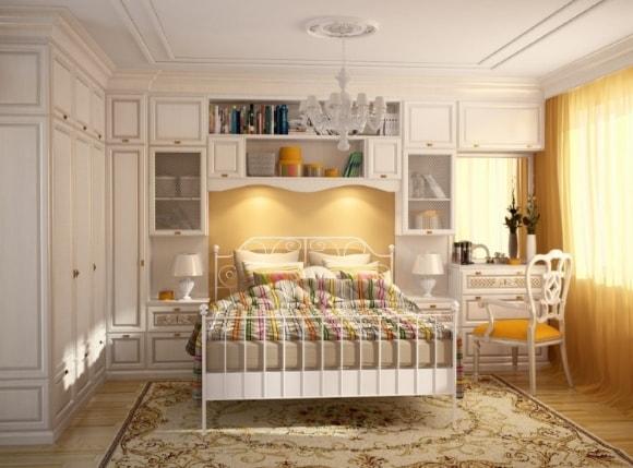 Прованская спальня маленького размера