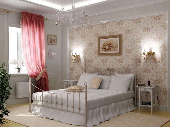 Прованская спальня небольшого размера
